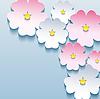Abstract floral stilvollen Hintergrund mit 3D-Blumen
