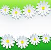 Stilvolle floral Hintergrund, 3D-Blume Kamille