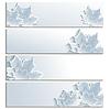 Set von horizontalen Banner mit grau 3d Ahornblatt