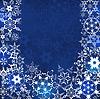 ID 4401549 | Zimowe niebieskie tło z płatki śniegu | Klipart wektorowy | KLIPARTO