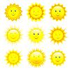 Векторный клипарт: Набор улыбается солнце
