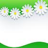 Векторный клипарт: Цветочные рамки с 3d цветок ромашки