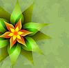 Векторный клипарт: Урожай фон с абстрактными цветами