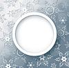 Winter abstrakten Hintergrund grau mit Schneeflocken