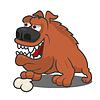 Brown Comic-Hund