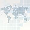 Mapa świata kropkowane prostokąty z zaokrąglonymi | Stock Vector Graphics