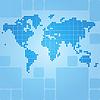 Gepunkteten Weltkarte von abgerundeten Rechtecke