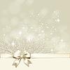 Weihnachten Hintergrund mit goldenen Bogen
