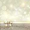 Goldene Band Bogen mit Bokeh Weihnachtsdekoration