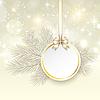 Boże Narodzenie karty z wstążką i satynową kokardką | Stock Vector Graphics