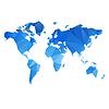 Dreieckige Weltkarte-Datei