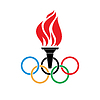 Olympic symbols torch and rings vtctor | Stock Vector Graphics