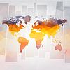 moderne Konzept der Weltkarte