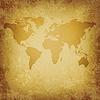 alte Weltkarte leere Vorlage