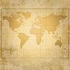 Weinlese-Weltkarte mit Kompass