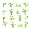 Векторный клипарт: Набор иконок символ Bamboo