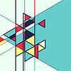 Векторный клипарт: абстрактных геометрических ретро красочный фон