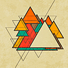 Векторный клипарт: Треугольная ретро абстрактного фона
