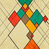 Векторный клипарт: Ромб ретро абстрактного фона орнамент