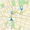 Mit Telefon für die Straßenkartennavigation