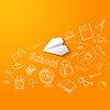 Samolot papieru i szkoły doodle tło | Stock Vector Graphics