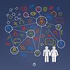 Globalen Cyberspace soziale Netzwerk-Konzept