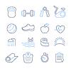 Векторный клипарт: набор фитнес клуб иконки