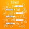 Векторный клипарт: Процесс генерации идей, бизнес-