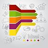Векторный клипарт: Маркетинг инфографики концепции и бизнес-болванов