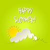 Векторный клипарт: Солнечный счастливое лето фон
