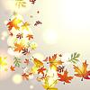 Векторный клипарт: Осенний фон с падающими листьями