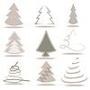 Векторный клипарт:  Набор абстрактных деревьев