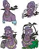 Comic afrikanischen Ureinwohner Männer