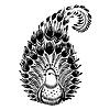 ID 4127398 | Dekoracyjny sylwetka kwiatowym paisley | Klipart wektorowy | KLIPARTO
