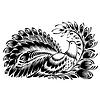 ID 4130013 | Dekoracyjne sylwetki pawia | Klipart wektorowy | KLIPARTO