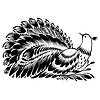 ID 4130014 | Dekoracyjne sylwetki pawia | Klipart wektorowy | KLIPARTO