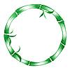 Декоративные круг бамбука | Векторный клипарт