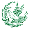 Цветочный декоративный орнамент колибри | Векторный клипарт