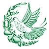 Kwiatowy dekoracyjny ornament Colibri | Stock Vector Graphics