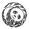 Декоративные силуэт панды | Векторный клипарт