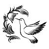 Dekorative Silhouette Kolibri im Flug | Stock Vektrografik
