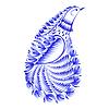 Декоративный орнамент пейсли райская птица | Векторный клипарт