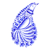 Dekorativen Ornament Paisley-Paradiesvogel | Stock Vektrografik