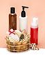 Zubehör und kosmetische Produkte für die Körperpflege | Stock Foto