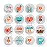 Romantyczny zestaw na Walentynki, data i wesela | Stock Vector Graphics