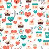Bez szwu deseń Walentynki, data i wesela | Stock Vector Graphics