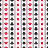 Nahtlose Hintergrund der Karten-Anzüge, Herz, Karo, cl