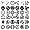 Set von Schneid Proben, Diamanten, Edelsteine, Design Elem