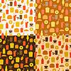 Set von nahtlosen Muster der Fast-Food-Symbole