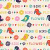 Bez szwu deseń z ptaków i kwiatów | Stock Vector Graphics